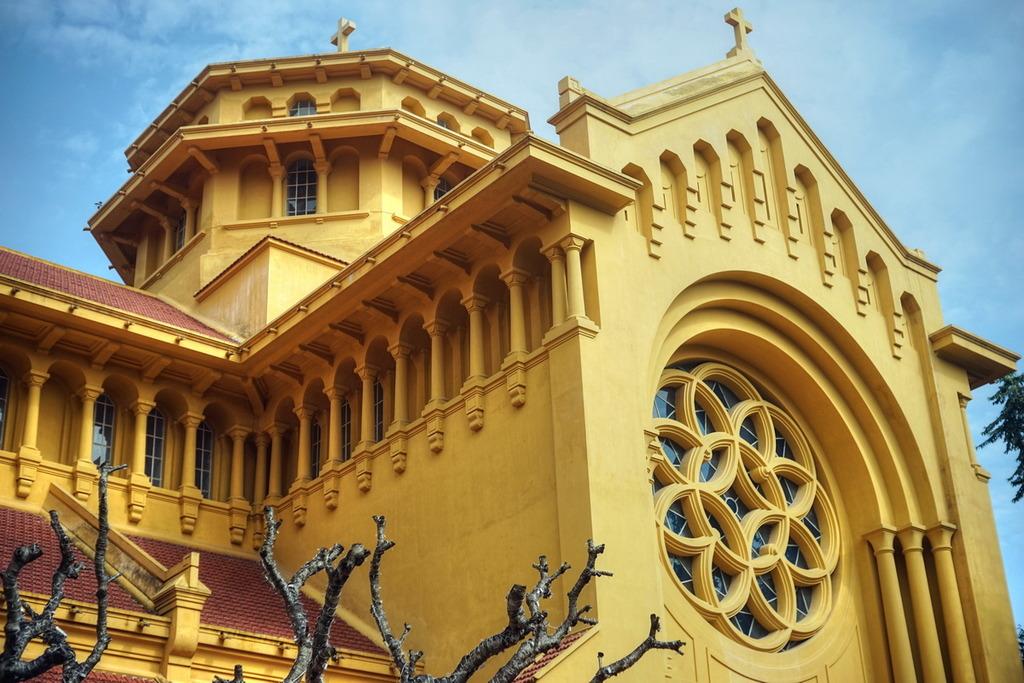 Chùm ảnh: Nét kiến trúc độc đáo của nhà thờ Cửa Bắc ở Hà Nội