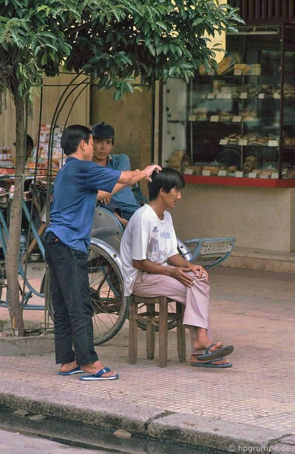 Sài Gòn: Freiluftfriseur