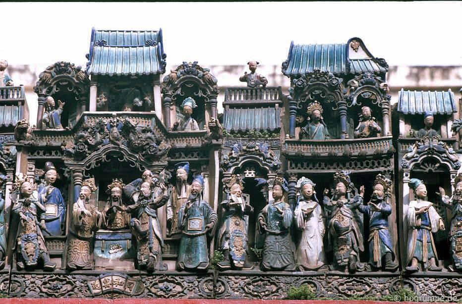 Sài Gòn: chùa Cholon - Thiên Hậu, hình mái nhà