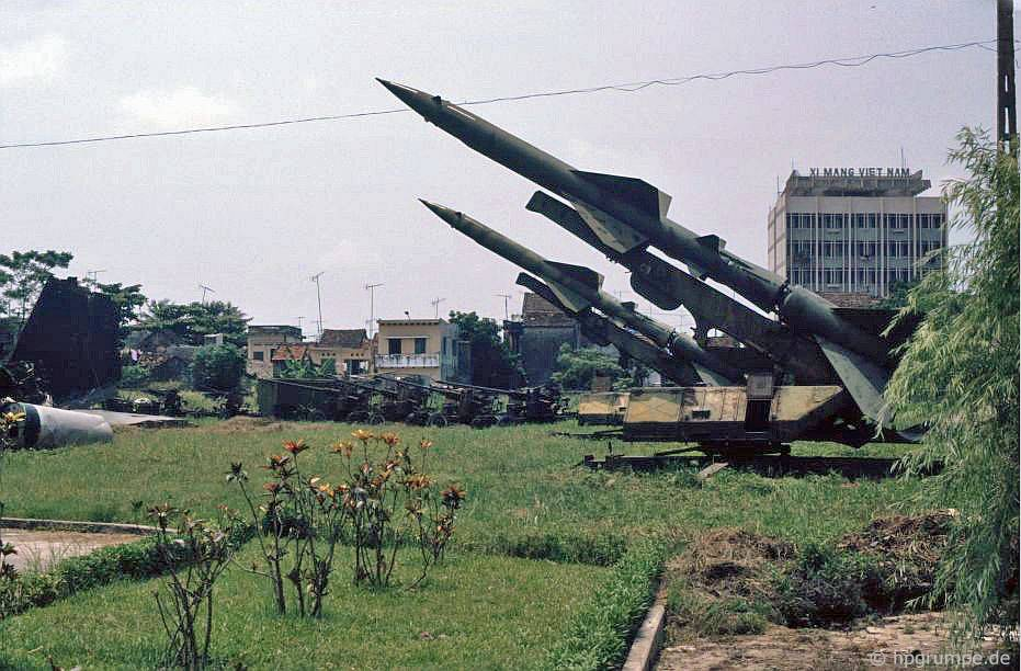 Hà Nội: phòng không từ cuộc chiến tranh Việt Nam tại công viên Lê Nin