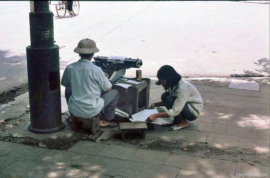 Hà Nội-Altstadt: điện thoại di động Schreibbüro