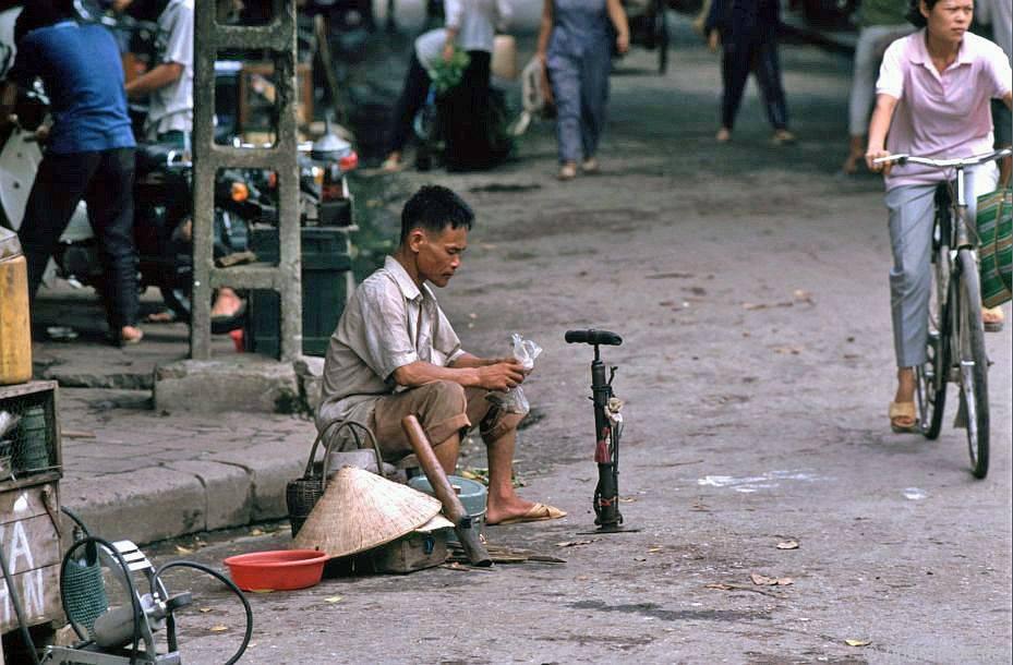 Hà Nội-Altstadt: Lạm phát và sửa chữa Fahrradschläuche