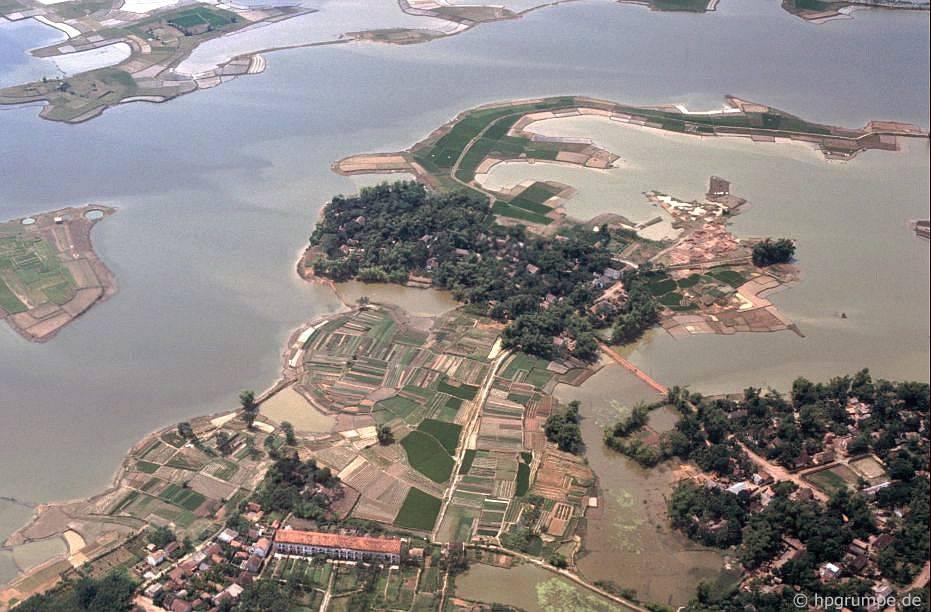 Hà Nội: Ảnh máy bay - các làng xung quanh thành phố