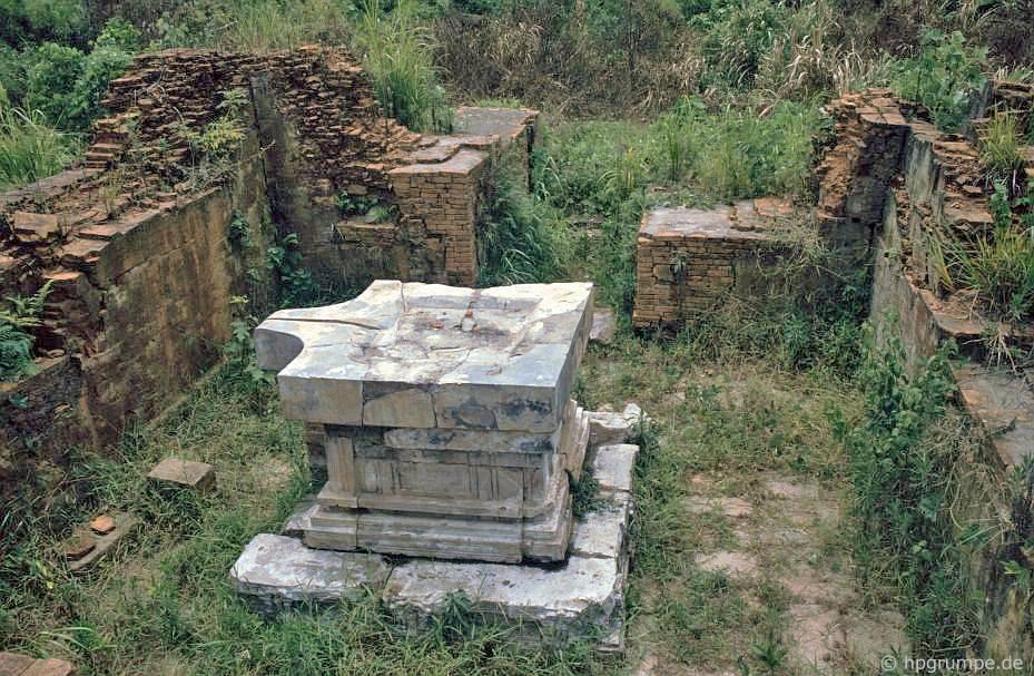 Di tích của Mỹ Sơn - bệ với yoni