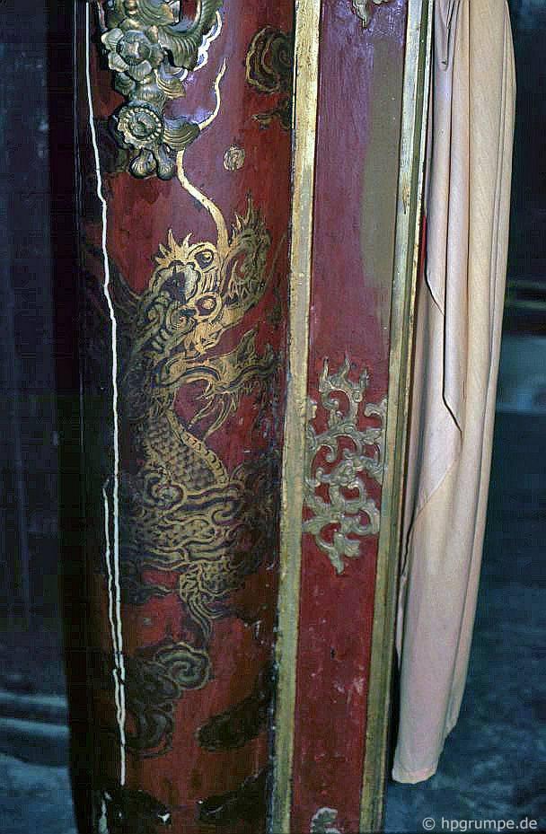 Huế: Lăng Minh Mạng - trang trí đền