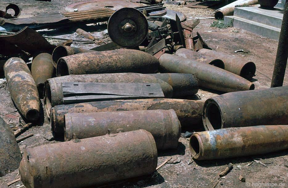 Bộ sưu tập súng ngắn và tên lửa ở Đốc Miếu