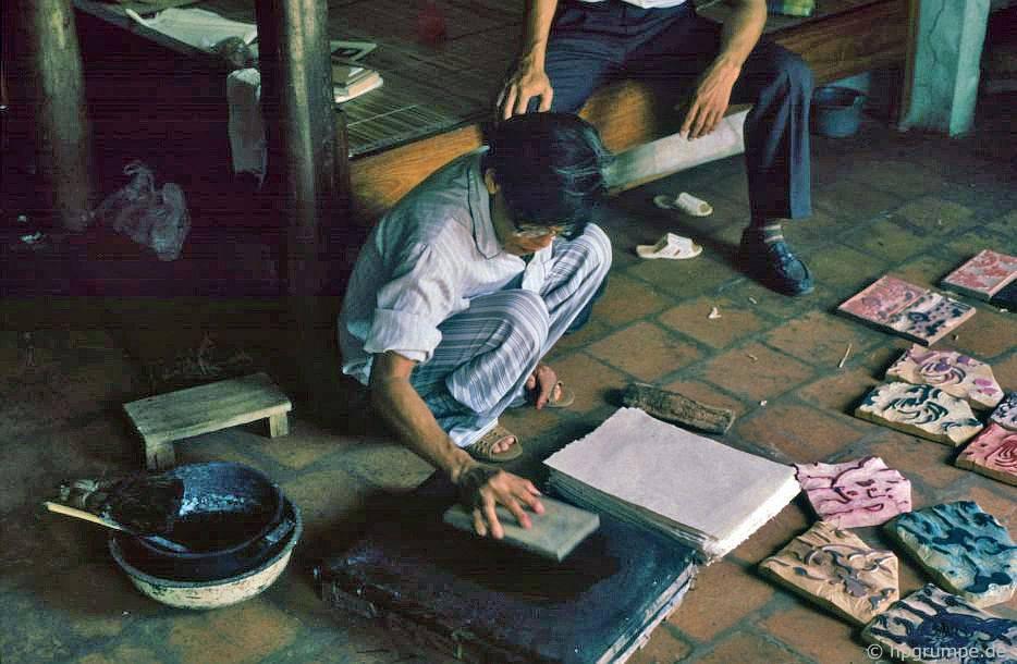Đông Hồ: Nguyễn Đăng Che cho thấy bản đồ khắc gỗ