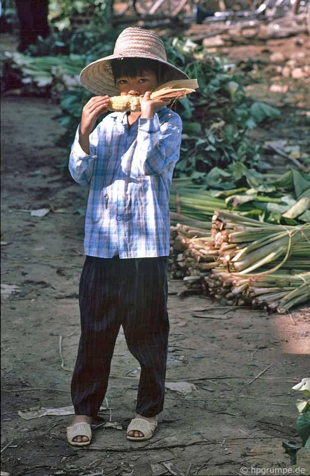 Điện Biên: Thị trường - cậu bé bắp ngô