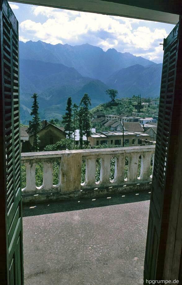 Sa Pa: xem từ cửa sổ khách sạn