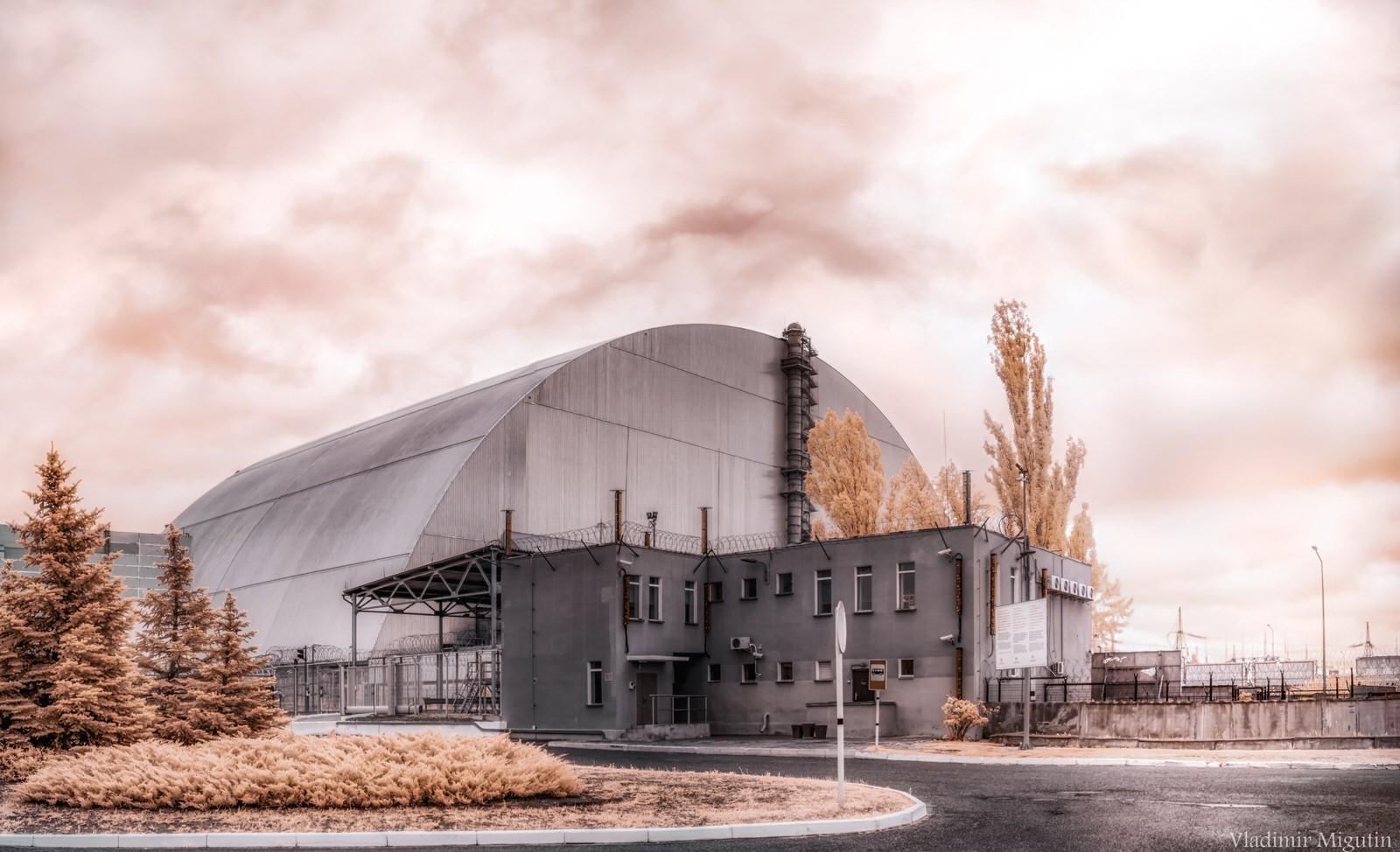 Một lò phản ứng hạt nhân bỏ hoang tại Chernobyl.