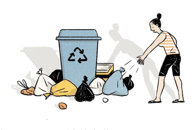Ở Sài Gòn, mình tiện tay thì mình vứt rác thôi