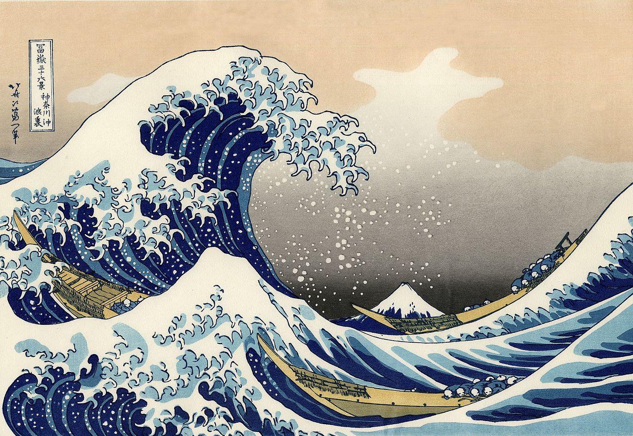 Tinh thần Nhật Bản trong bức tranh 'Sóng lừng' của Hokusai