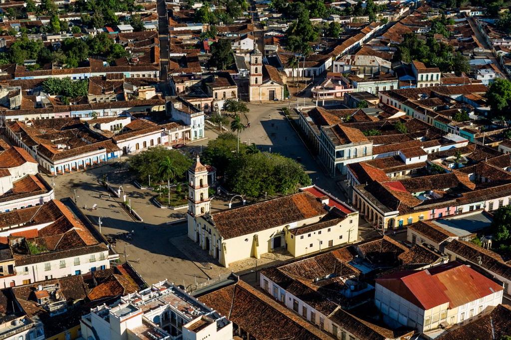 Thị trấn Remedios, tỉnh Villa Clara, yên ả nhìn từ trên cao.