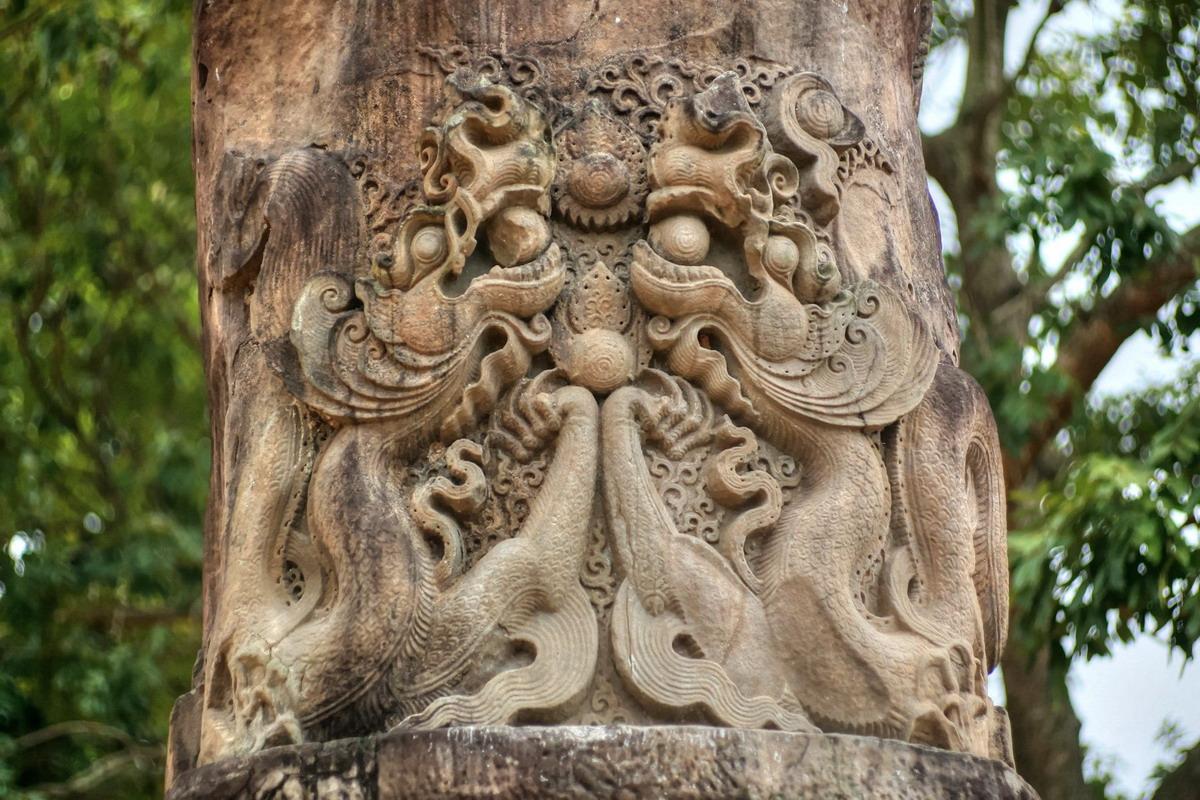 Chùm ảnh: Cột đá chùa Dạm – kiệt tác điêu khắc đầy bí ẩn của nhà Lý