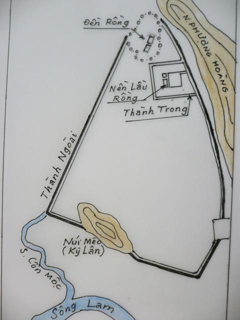 Bản đồ Phượng Hoàng Trung đô lập lại từ ảnh chụp trên máy bay.
