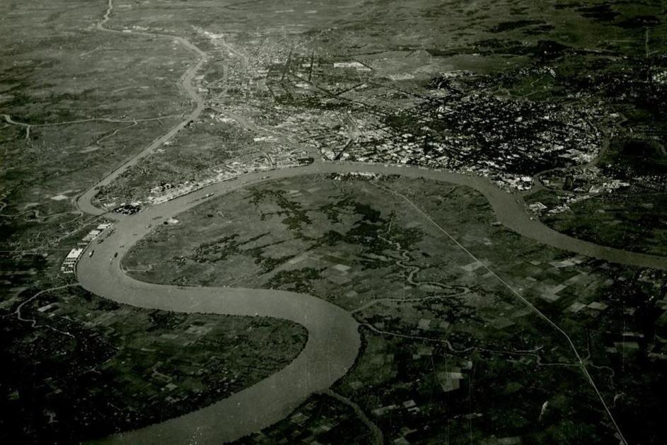 Chùm ảnh: Toàn cảnh Sài Gòn năm 1950 nhìn từ máy bay