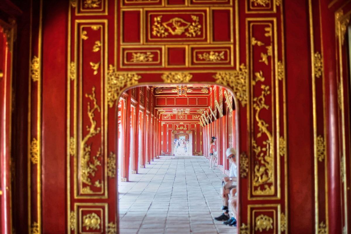 Chùm ảnh: Hệ thống hành lang tuyệt mỹ mới được khôi phục ở Tử Cấm Thành Huế