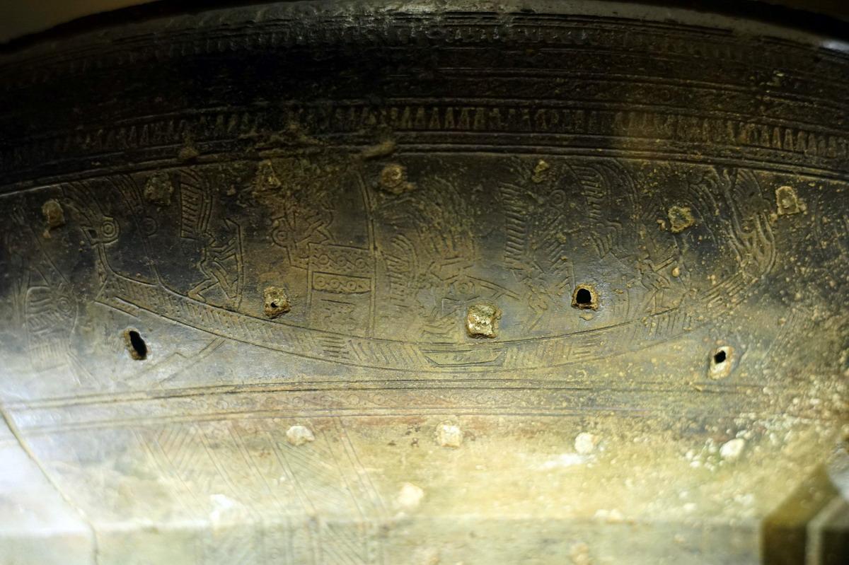 Trống đồng Hoàng Hạ – một dấu ấn văn hóa Đông Sơn ở Hà Nội Trong-dongp-Hoang-Ha-13