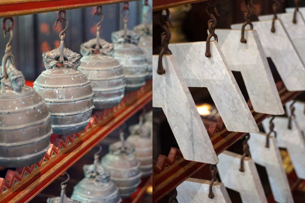 Chùm ảnh: Biên chung, biên khánh – hai nhạc cụ kỳ lạ của cung đình nhà Nguyễn