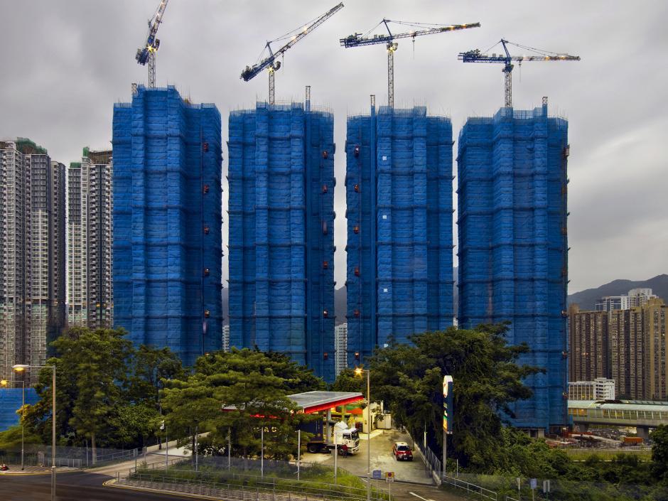 [Ảnh] Ấn tượng với cách người Hồng Kông xây dựng những tòa nhà chọc trời chỉ với giàn giáo bằng tre - Ảnh 7.
