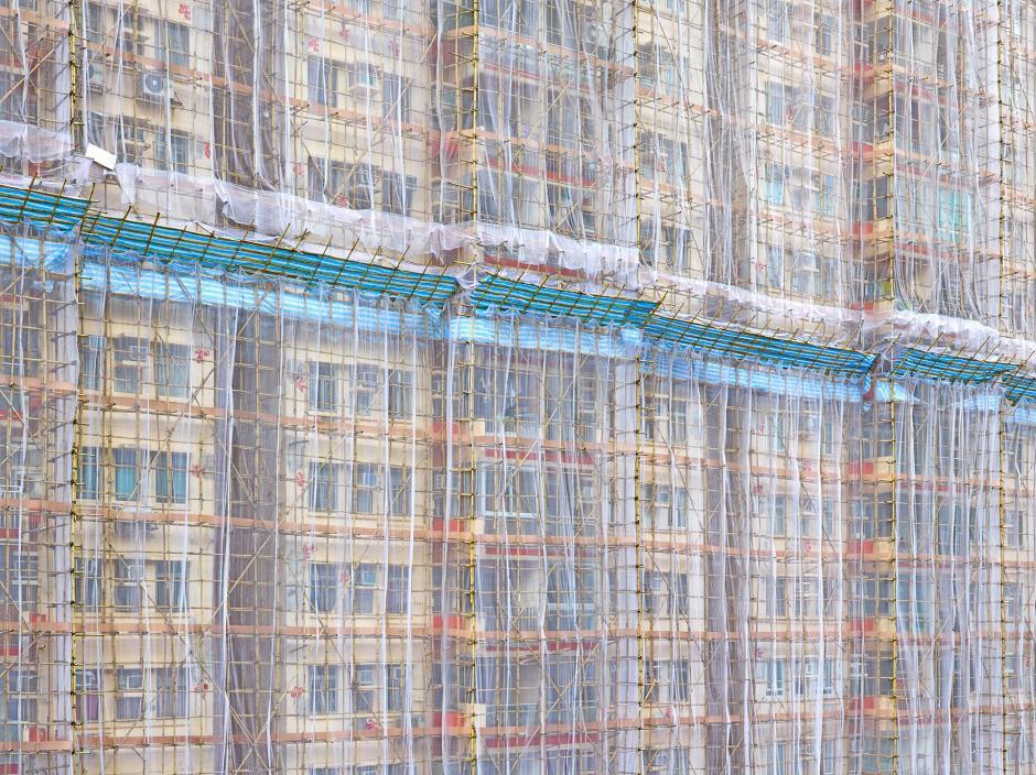 Chùm ảnh: Kỹ thuật xây nhà chọc trời với giàn giáo bằng tre của người Hồng Kông