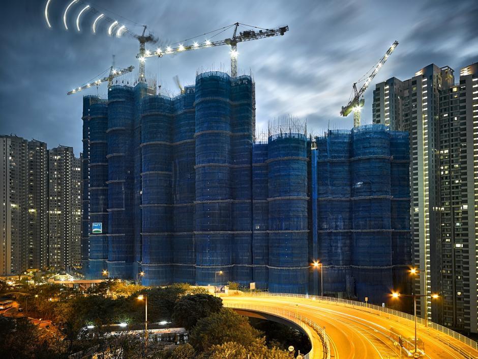 [Ảnh] Ấn tượng với cách người Hồng Kông xây dựng những tòa nhà chọc trời chỉ với giàn giáo bằng tre - Ảnh 11.