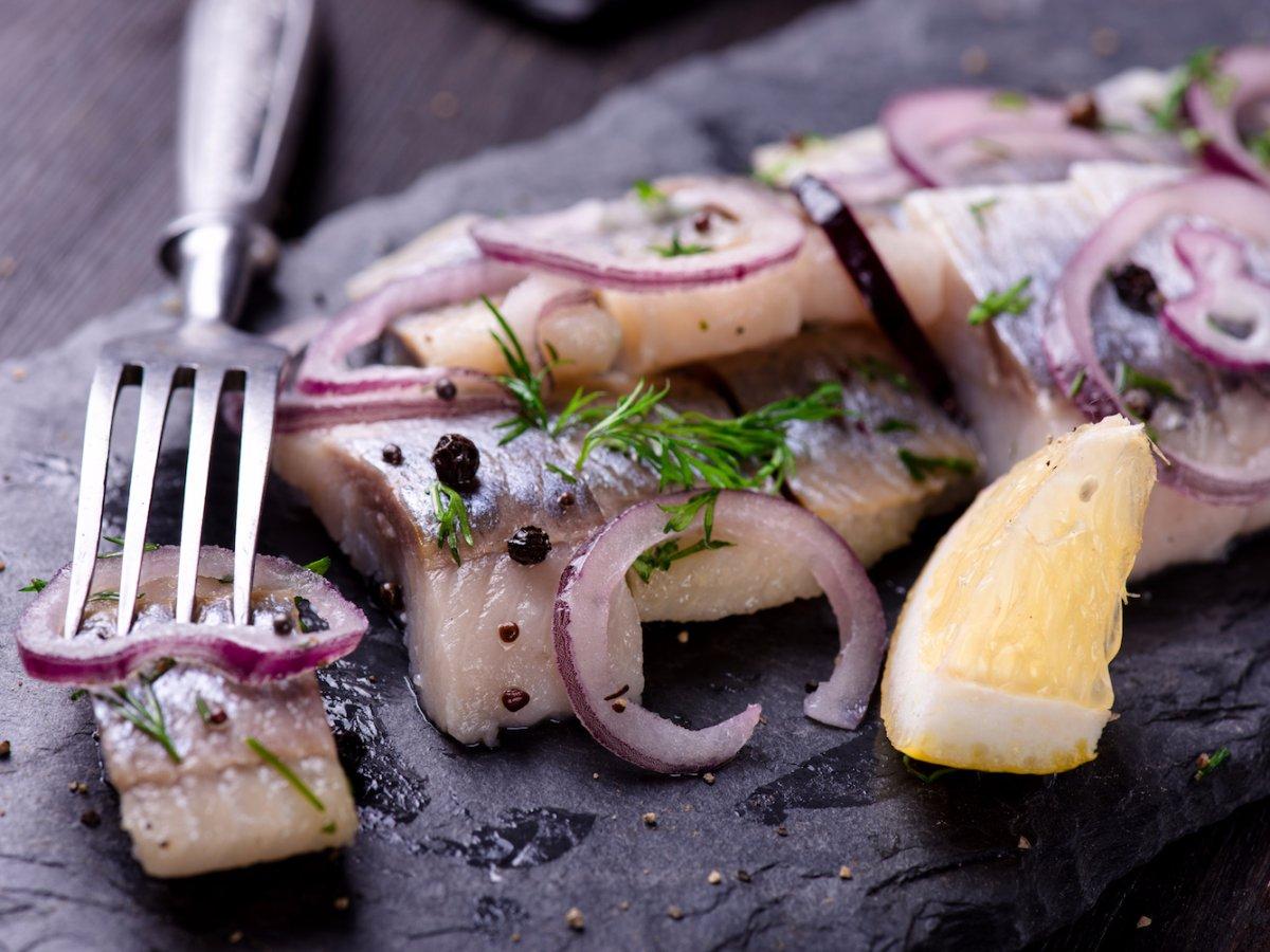 Poland: pickled herring