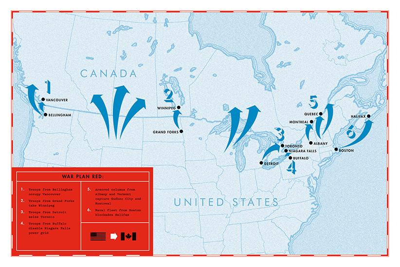 Kịch bản Mỹ đánh chiếm Canada bằng sức mạnh quân sự