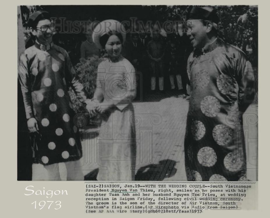 Đám cưới lớn nhất Sài Gòn của con gái Tổng thống Nguyễn Văn Thiệu