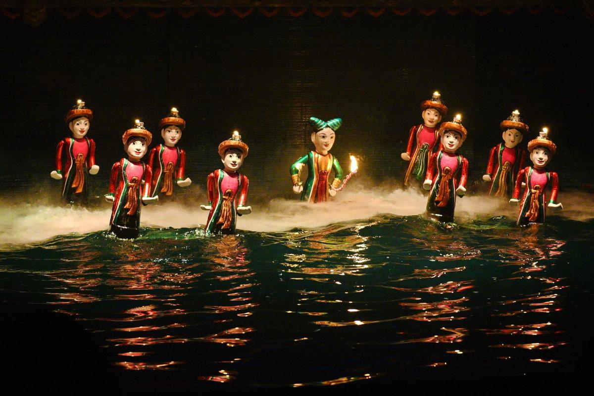 Bức tranh đầy sắc màu của nghệ thuật múa rối Việt Nam