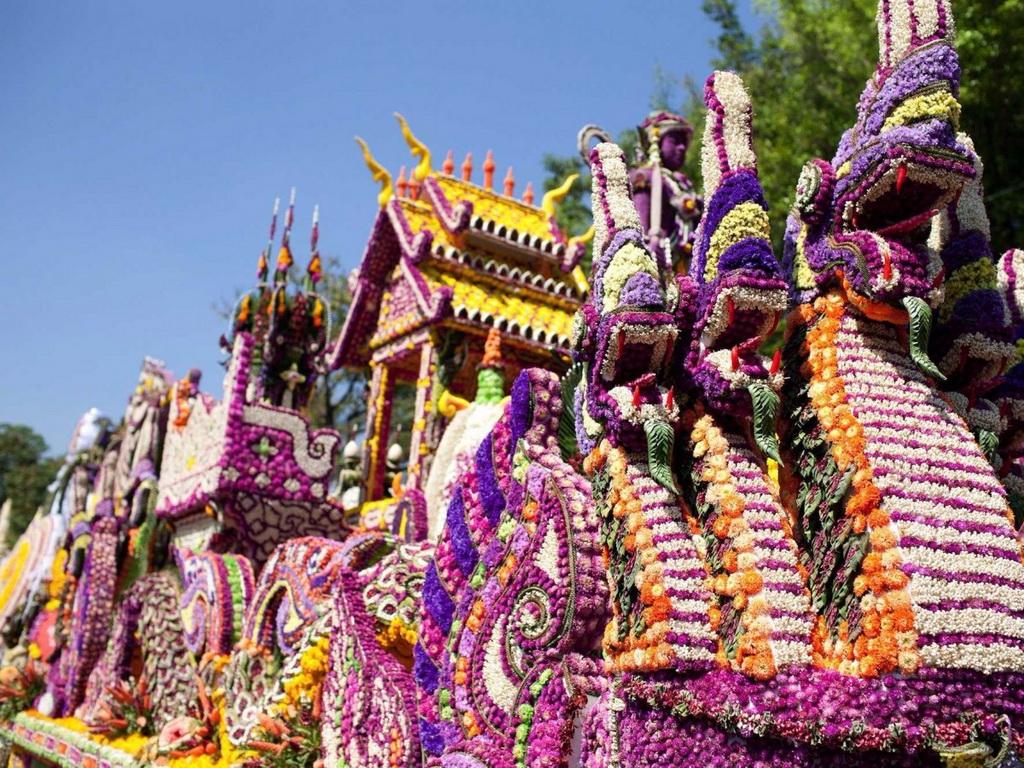 """Chiang Mai được mệnh danh là """"Bông hồng miền Bắc"""", với lễ hội hoa được tổ chức vào tuần đầu tiên của tháng 1."""