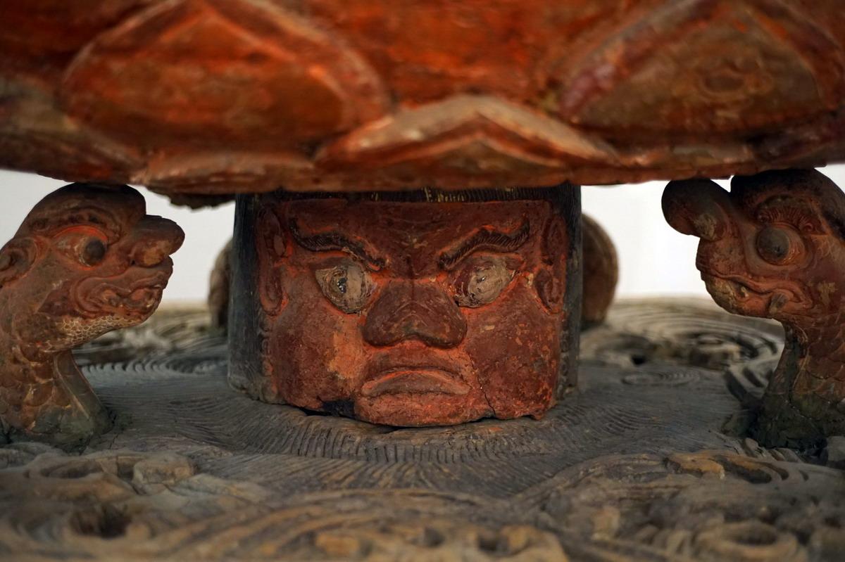 Chùm ảnh: Bức tượng 'quỷ đội Phật' 500 tuổi độc nhất vô nhị Việt Nam