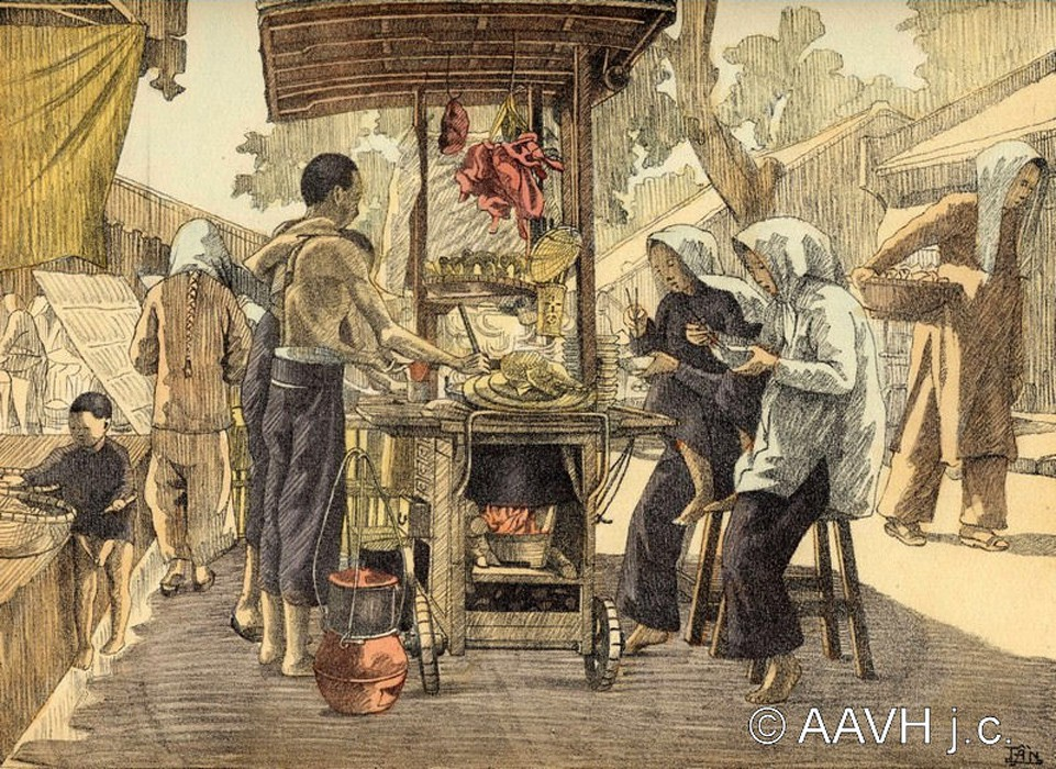 Loạt tranh ký họa đẹp mê mẩn về đời sống ở Nam Bộ một thế kỷ trước