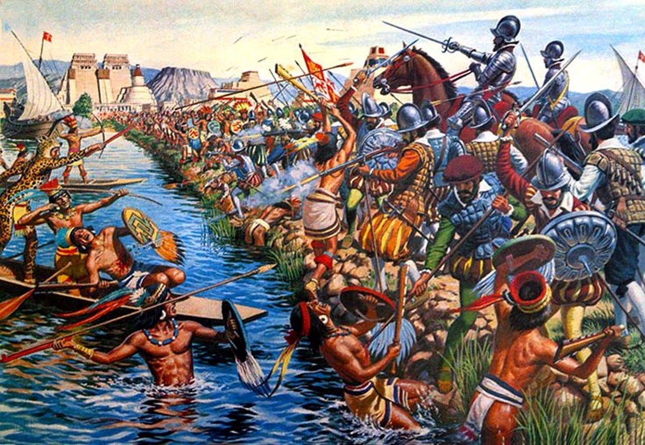 Cuộc hủy diệt đế chế Aztec của người Tây Ban Nha