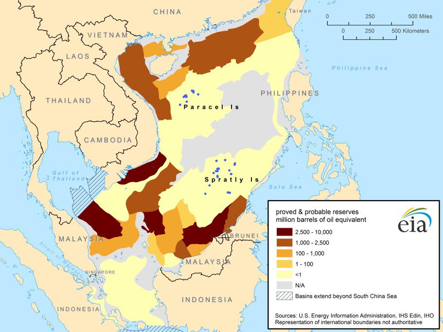 Nguồn lợi dầu khí hàng nghìn tỉ USD ở biển Đông