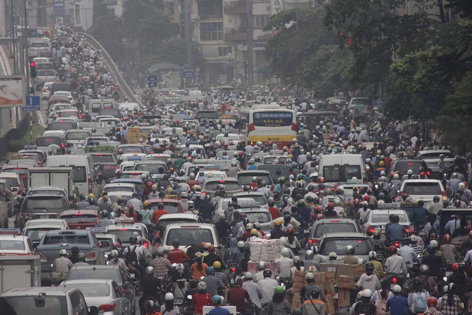 Tác hại của khí thải phương tiện giao thông tới sức khoẻ và môi trường