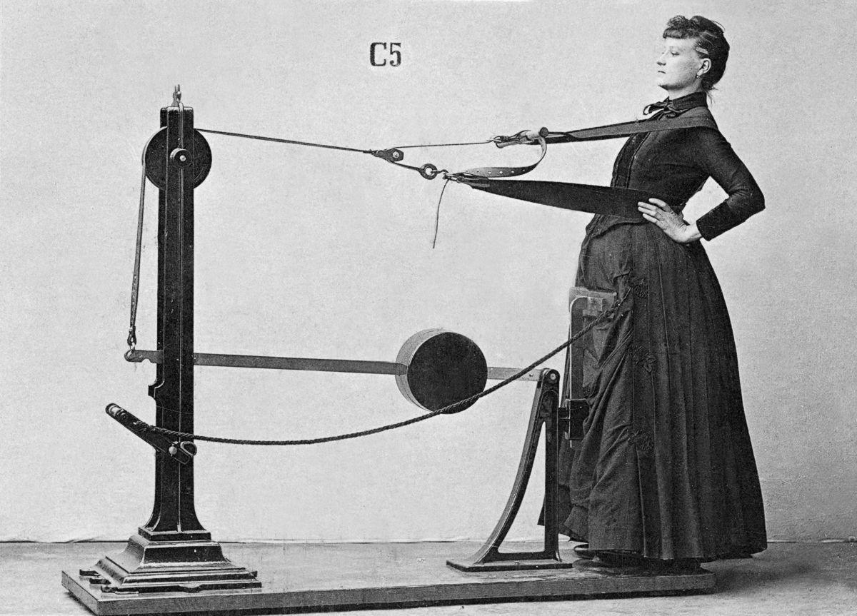 Chùm ảnh:  Những cỗ máy tập gym của con người 100 năm trước
