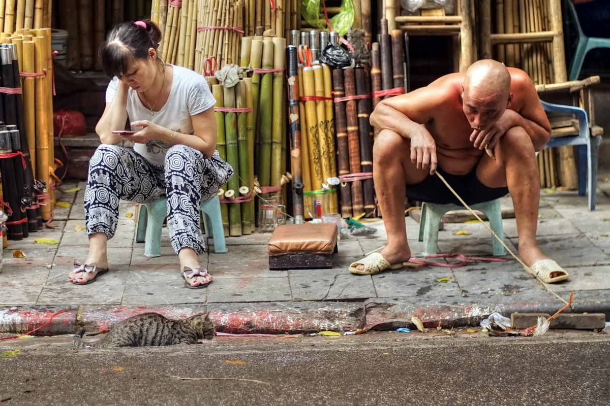 Chùm ảnh: Phố Hàng Vải và cảnh tượng 'độc nhất vô nhị' Hà Nội