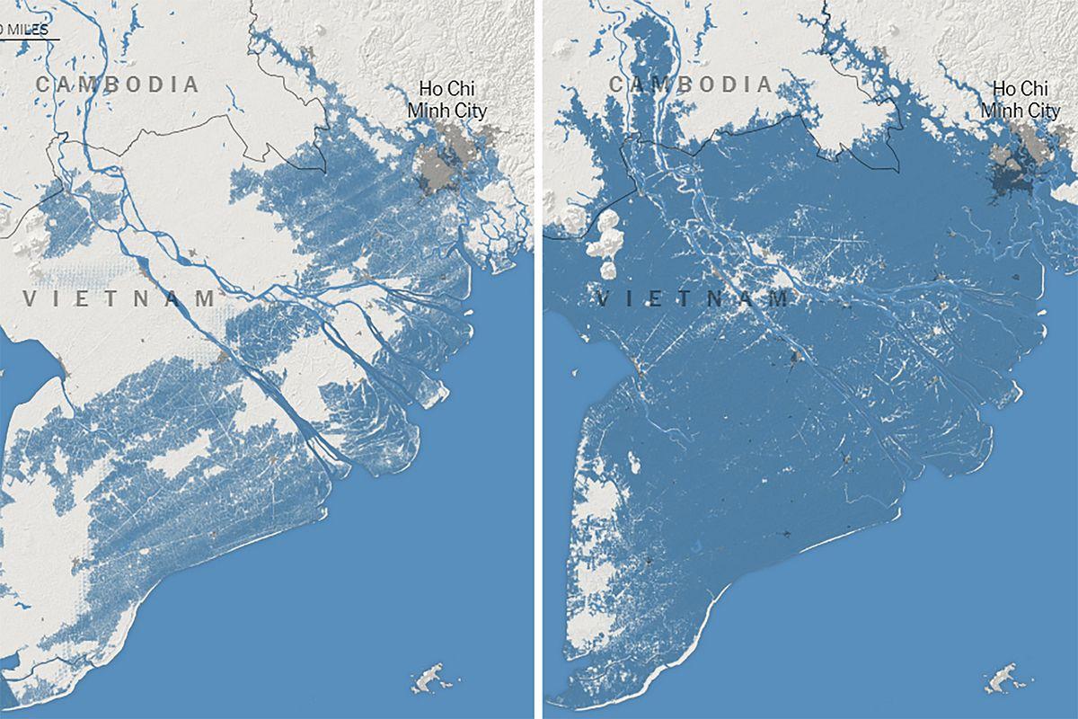 Về vấn đề thích ứng với nước biển dâng do biến đổi khí hậu