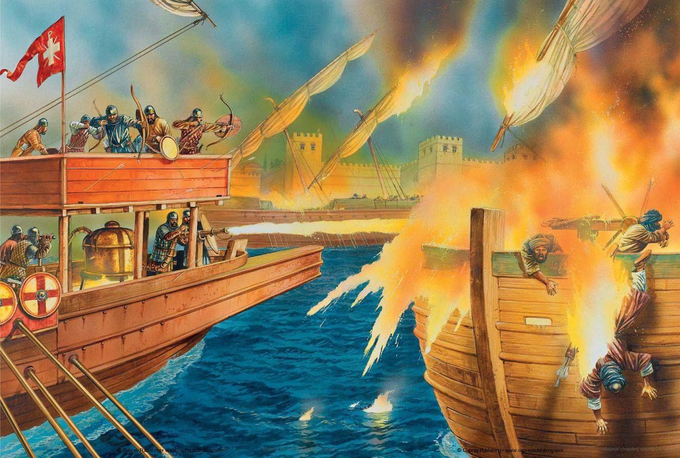 Lửa Hy Lạp – vũ khí hủy diệt tàu chiến trong các cuộc chiến tranh cổ xưa