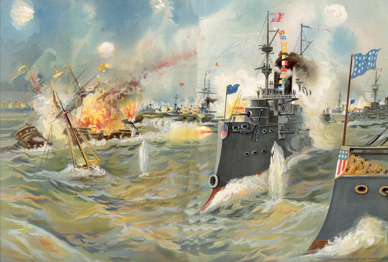 Hải chiến vịnh Manila 1898: Cuô