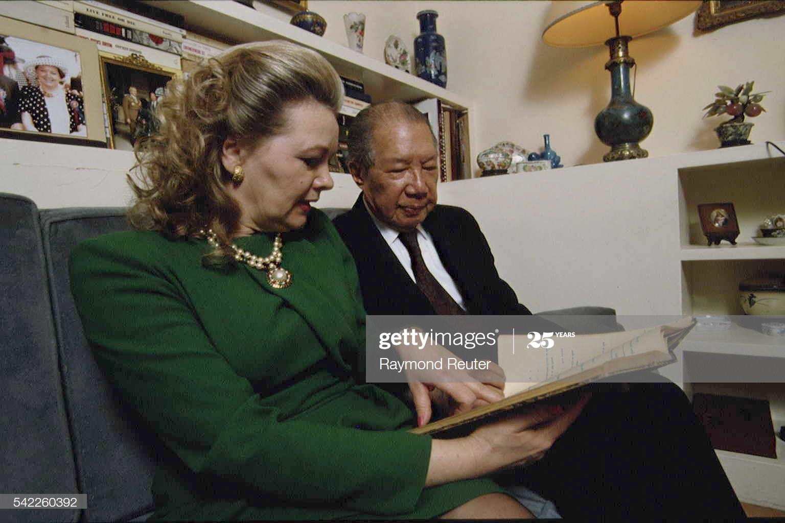 Chùm ảnh: Tuổi già bên người vợ Pháp của cựu hoàng Bảo Đại