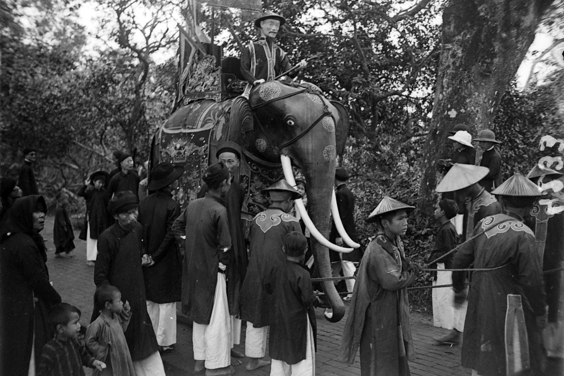 Chùm ảnh: Lễ hội đền Voi Phục ở Hà Nội năm 1928
