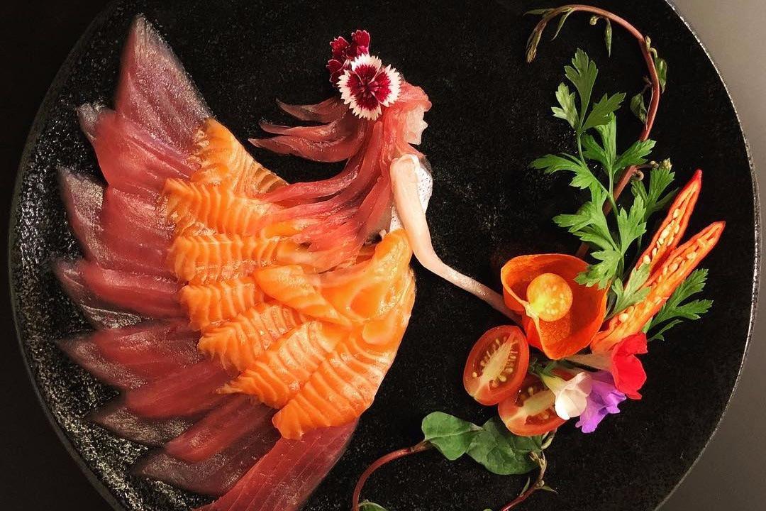 Chùm ảnh: Những tác phẩm nghệ thuật từ món sashimi Nhật Bản