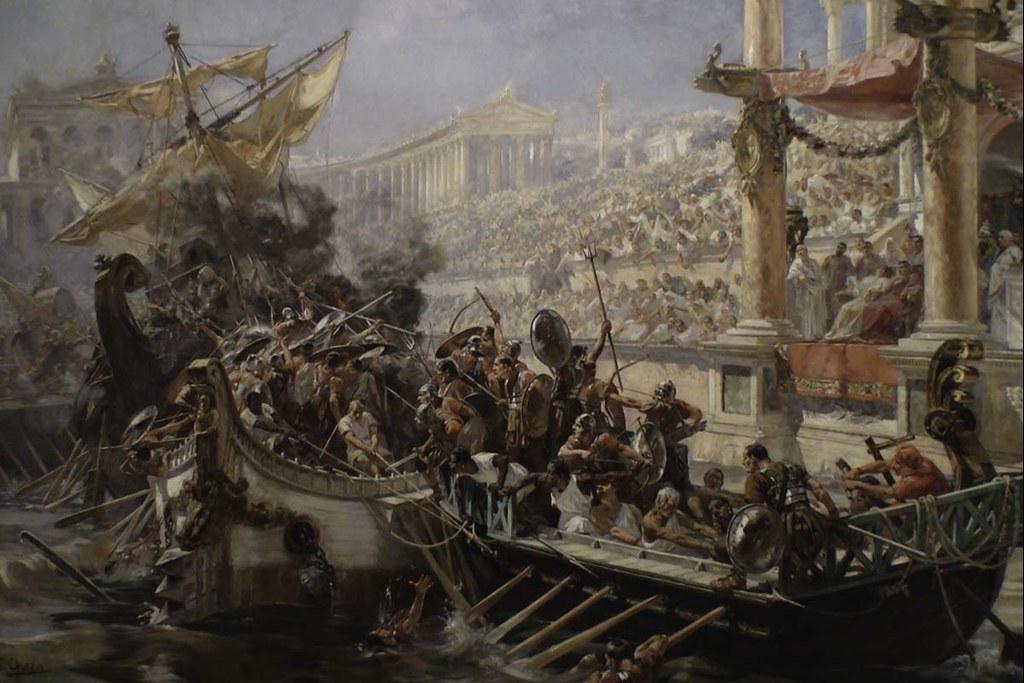 Naumachia: Trò chơi thủy chiến tắm máu người nô lệ La Mã