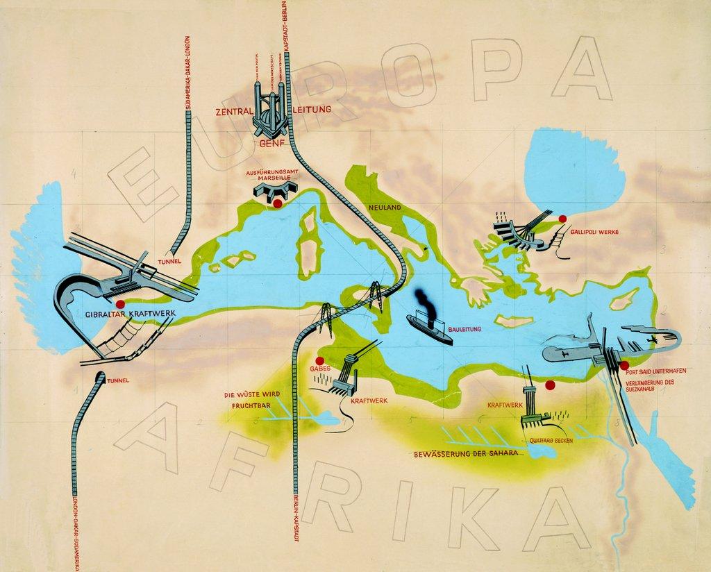 Kế hoạch rút nước Địa Trung Hải, sáp nhập Âu – Phi đầu thế kỷ 20