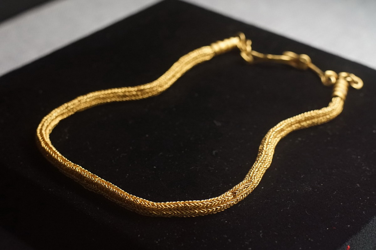 Chùm ảnh: Đồ trang sức bằng vàng tinh xảo của nền văn hóa Óc Eo