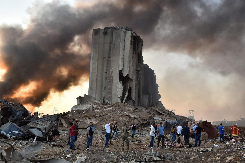 Chùm ảnh: Hiện trường vụ nổ thảm khốc ở thành phố Beirut