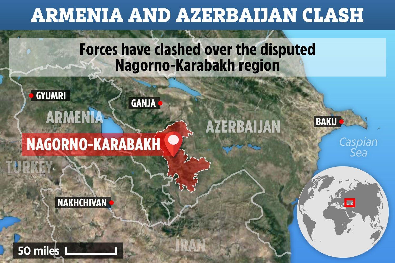 Lịch sử xung đột tại 'vùng đất nóng' Nagorny-Karabakh