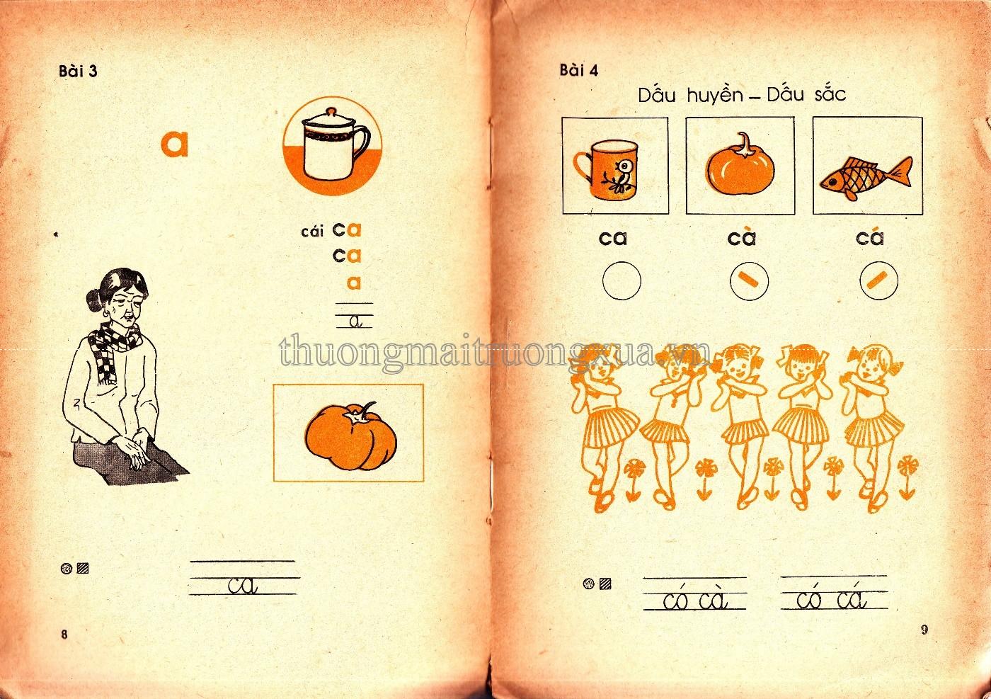 Chùm ảnh: Toàn bộ nội dung sách Tiếng Việt lớp 1 của thập niên 1990